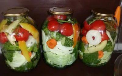 ассорти с капустой из овощей на зиму самый вкусный