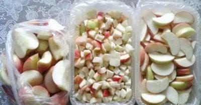 как заморозить яблоки в морозилке на зиму