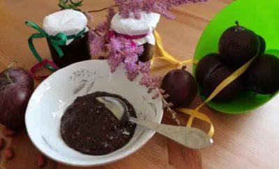 варенье из слив и какао