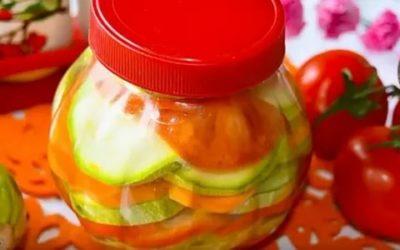 цукини с помидорами на зиму