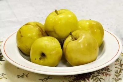 моченые яблоки антоновка в домашних условиях
