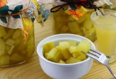 компот из кабачков со вкусом ананаса на зиму