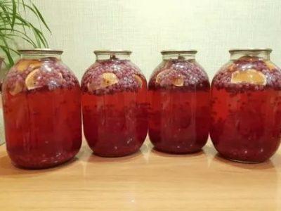 компот из красной смородины на зиму с апельсином