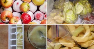можно ли замораживать яблоки в морозилке на зиму