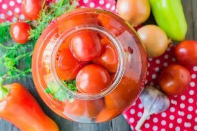 помидоры на зиму с уксусом