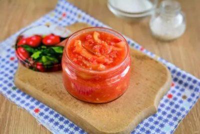 лечо из перца и помидор без уксуса