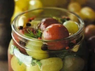 виноград маринованный без стерилизации