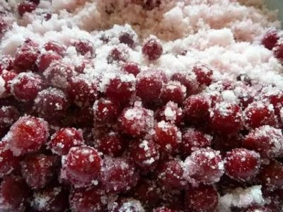 вишня в сахаре на зиму