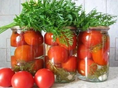 помидоры на зиму с морковной ботвой