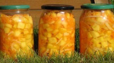 кабачки на зиму с морковью и чесноком