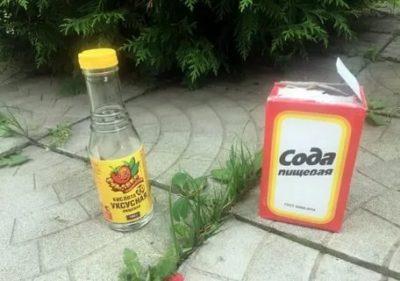 сода от сорняков