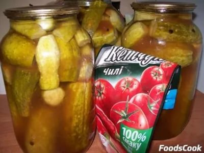 огурцы на зиму с кетчупом торчин чили