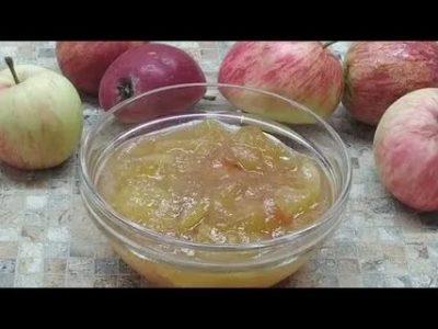 пятиминутка из яблок на зиму