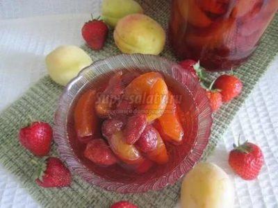 варенье из абрикосов и клубники