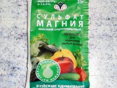сульфат магния применение удобрение