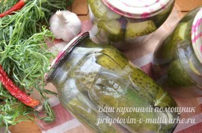 огурцы на зиму с эстрагоном