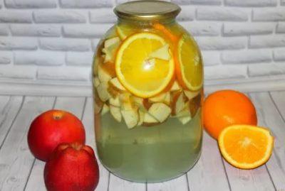 компот из апельсинов и яблок на зиму