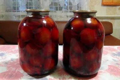 помидоры на зиму со свеклой