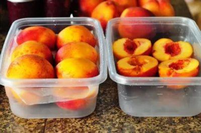 замороженные персики на зиму