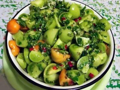 мариновать зеленые помидоры быстро