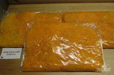 как заморозить морковь на зиму в морозилке
