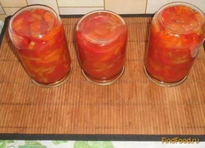 перец в помидорной заливке на зиму