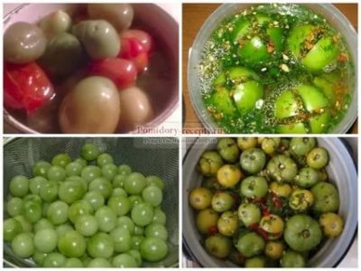 как посолить зеленые помидоры холодным способом в кастрюле