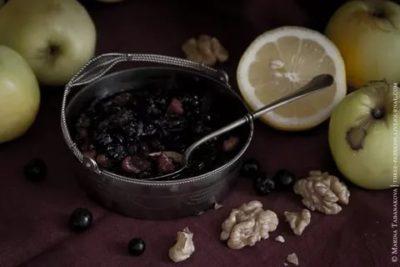 джем из черноплодной рябины и яблок